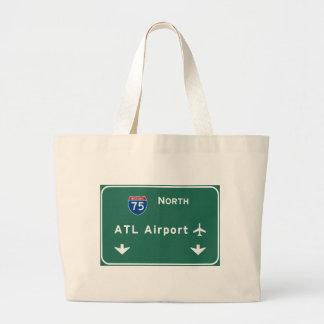Atlanta ATL Airport I-75 N Interstate Georgia - Jumbo Tote Bag