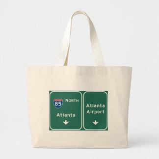 Atlanta ATL Airport I-85 N Interstate Georgia - Jumbo Tote Bag
