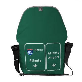 Atlanta ATL Airport I-85 N Interstate Georgia - Messenger Bag