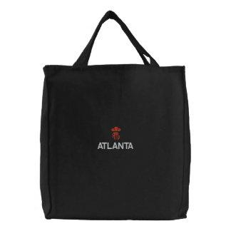 ATLANTA, ATL  BLACK TOTE EMBROIDERED BAGS