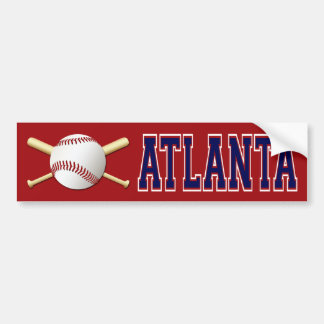 ATLANTA BASEBALL BUMPER STICKER
