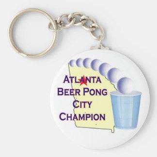 Atlanta Beer Pong Champion Keychains