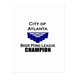 Atlanta Beer Pong Champion Postcard