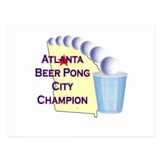 Atlanta Beer Pong Champion Postcards