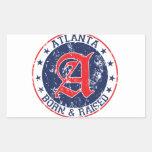 Atlanta born and raised blue sticker