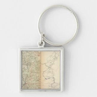 Atlanta Campaign, 2nd epoch Silver-Colored Square Key Ring