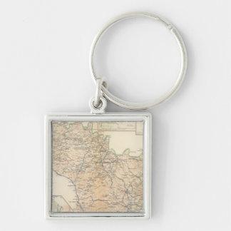 Atlanta Campaign 3rd epoch Silver-Colored Square Key Ring