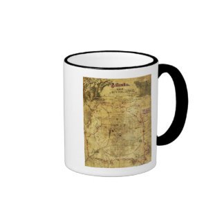 Atlanta Campaign - Civil War Panoramic Map 2 Mugs