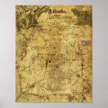 Atlanta Campaign - Civil War Panoramic Map 2 Poster
