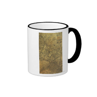 Atlanta Campaign - Civil War Panoramic Map Coffee Mug