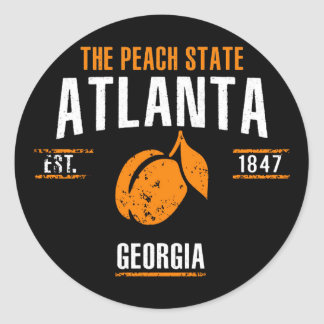 Atlanta Classic Round Sticker