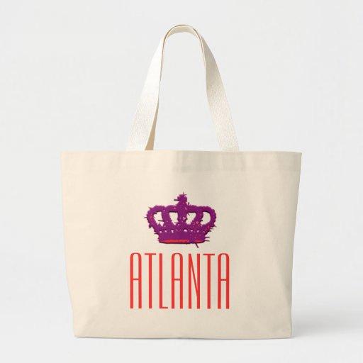 Atlanta Crown Jumbo Tote Canvas Bags