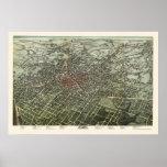 Atlanta, GA Panoramic Map - 1892 Poster