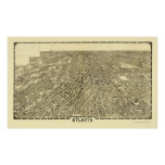 Atlanta, GA Panoramic Map - 1919 Poster