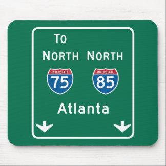 Atlanta, GA Road Sign Mouse Mat