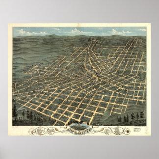 Atlanta Georgia 1871 Antique Panoramic Map Posters