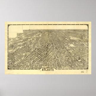 Atlanta Georgia 1919 Antique Panoramic Map Poster