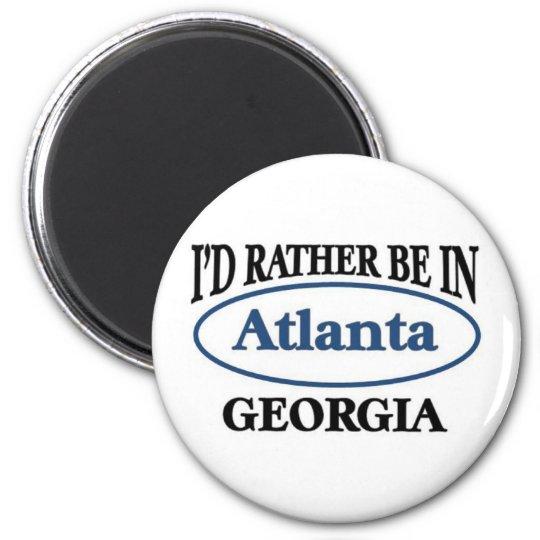 Atlanta Georgia 6 Cm Round Magnet