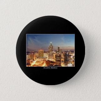 Atlanta, Georgia at Night - Beautiful Skyline 6 Cm Round Badge