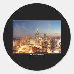 Atlanta, Georgia at Night - Beautiful Skyline Stickers