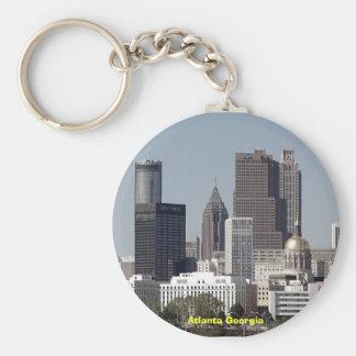 atlanta georgia cityscape basic round button key ring