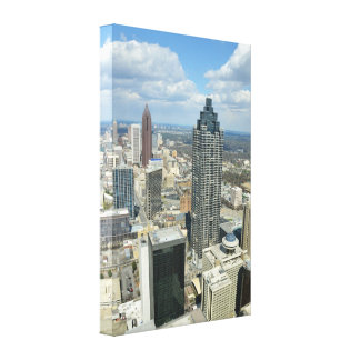 Atlanta Georgia Cityscape Stretched Canvas Print