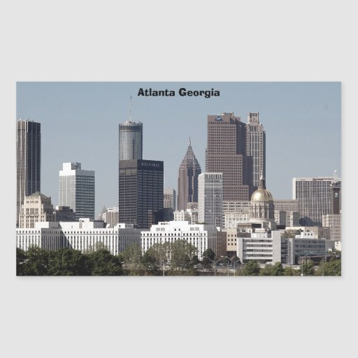 atlanta georgia cityscape rectangle sticker
