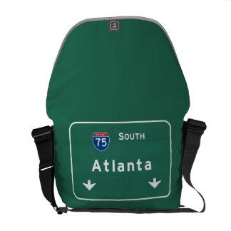 Atlanta Georgia ga Interstate Highway Freeway : Courier Bag