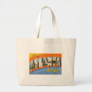 Atlanta Georgia GA Old Vintage Travel Postcard- Jumbo Tote Bag