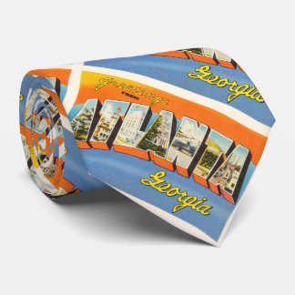 Atlanta Georgia GA Old Vintage Travel Postcard- Tie