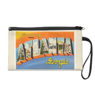 Atlanta Georgia GA Old Vintage Travel Postcard- Wristlet