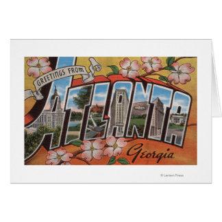 Atlanta, Georgia - Large Letter Scenes 2 Card