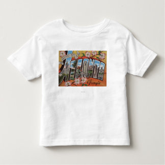 Atlanta, Georgia - Large Letter Scenes 2 Toddler T-Shirt