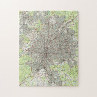 Atlanta Georgia Map (1981) Jigsaw Puzzle