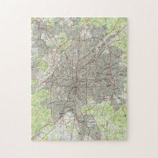 Atlanta Georgia Map (1981) Jigsaw Puzzle