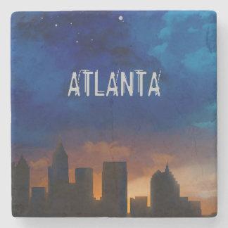 ATLANTA GEORGIA NIGHT SKYLINE - Stone Coaster