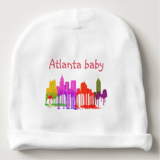 ATLANTA GEORGIA SKYLINE PUDDLES - BABY BEANIE