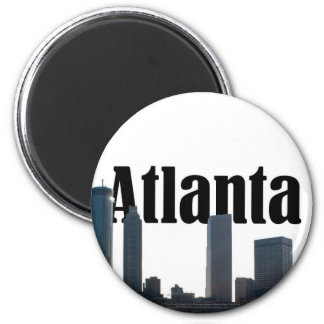 Atlanta Georgia Skyline with Atlanta in the Sky Magnet