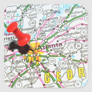 Atlanta, Georgia Square Sticker