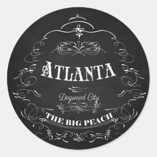 Atlanta, Georgia - The Big Peach Round Sticker