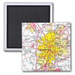 Atlanta Map Square Magnet