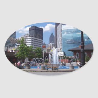 Atlanta Oval Sticker