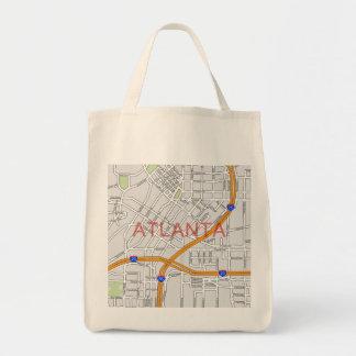 Atlanta Peachtree Road Map Bag