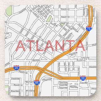 Atlanta Peachtree Road Map Drink Coasters
