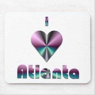 Atlanta -- Purple Turquoise Mouse Pads