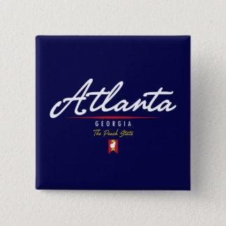 Atlanta Script 15 Cm Square Badge
