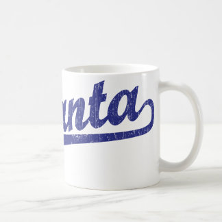 Atlanta script logo in blue coffee mug