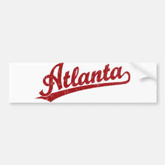 Atlanta script logo in red bumper sticker