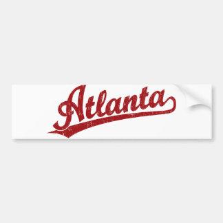 Atlanta script logo in red bumper sticker