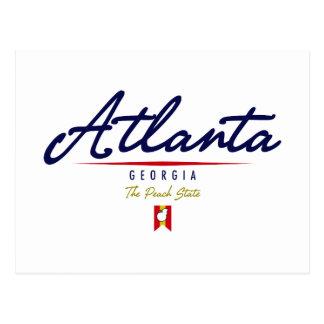 Atlanta Script Postcard